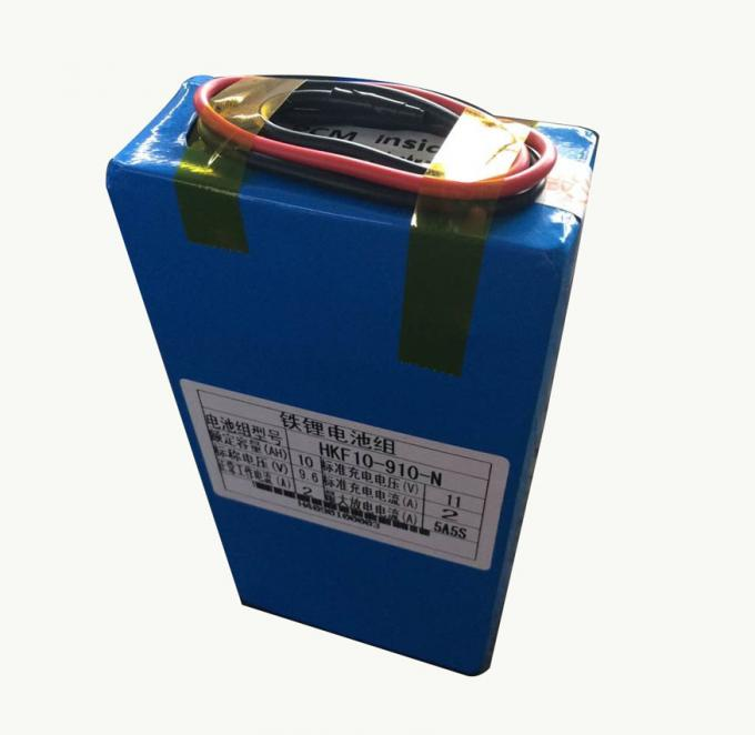 10000mah / 9.6V Lithium Ion Battery For Signal Lamps , Long Cycle Life 2000+
