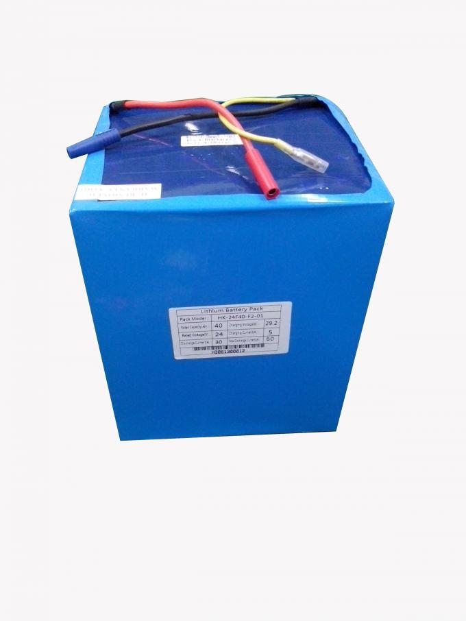 40Ah 24V Lithium Ion Phophate Battery Pack With Quality Assurance CE, ISO