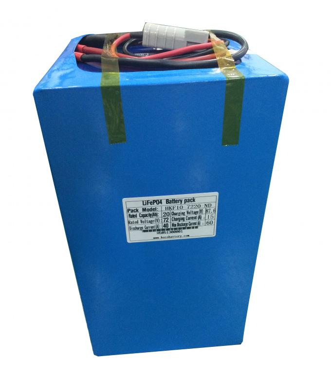 Customized 72V 20Ah LiFePO4 Battery Pack In Compact Size 320*170*155mm