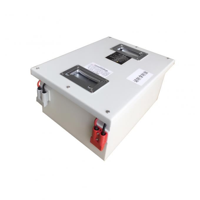 Compact 24V 60AH Rechargeable Lithium Battery For AGV / Forklift In Metal Case