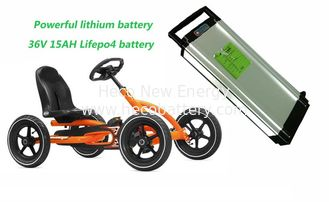 Powerful 36V 15AH LiFePO4 Electric Bike Lithium Battery , Children's Cart Lithium Battery supplier