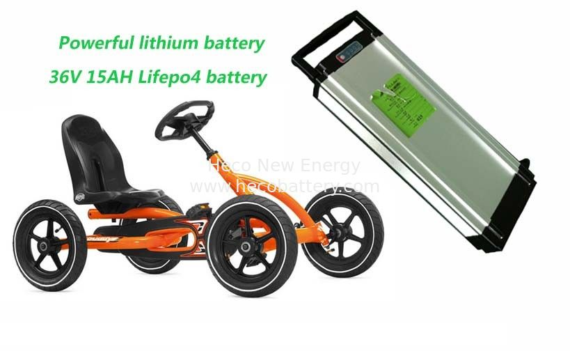 Powerful 36V 15AH LiFePO4 Electric Bike Lithium Battery , Children's Cart Lithium Battery