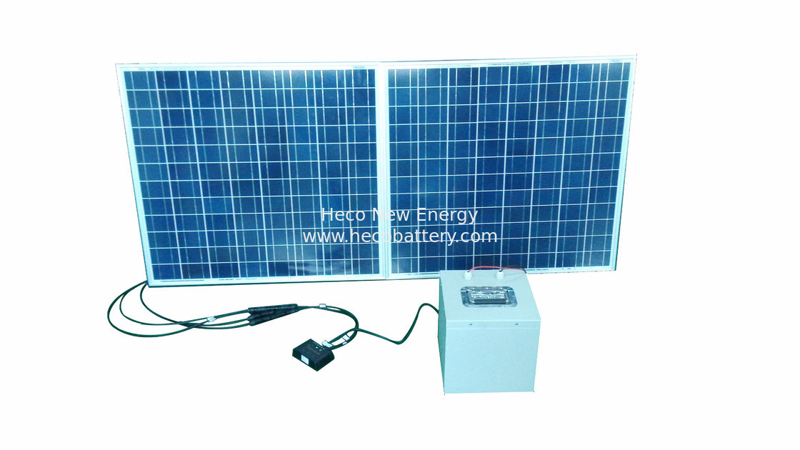 Solar Energy 24V LifePO4 battery Pack 40AH Compact With Solar Charger and PV Panel