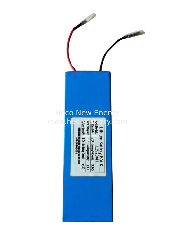 3.2V LiFePO4 20AH Lithium Battery Module Rechargeable with Connector
