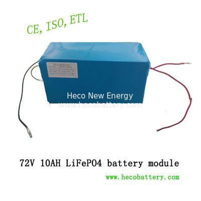 China High Power Lithium Battery Module , 10Ah 72V Iron Phosphate Battery Pack factory